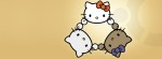 Hello Kitty triangle Facebook Timeline Cover Photo
