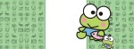 Keroppi green banner Facebook Timeline Cover Photo