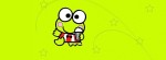 Keroppi green stars Facebook Timeline Cover Photo