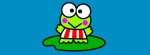 Keroppi teal leaf Facebook Timeline Cover Photo