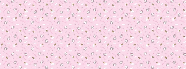Pink background Hello Kitty Facebook Timeline Cover Photo