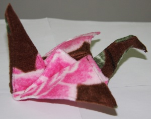 Fleece Origami Crane