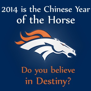 Denver Broncos 2014 Chinese Year of the Horse Super Bowl image (1024 x 1024)