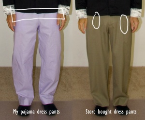 Pant Comparisons (click to enlarge)