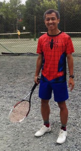 Spider-man cosplay Tennis shorts