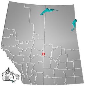 Lloyminster location map