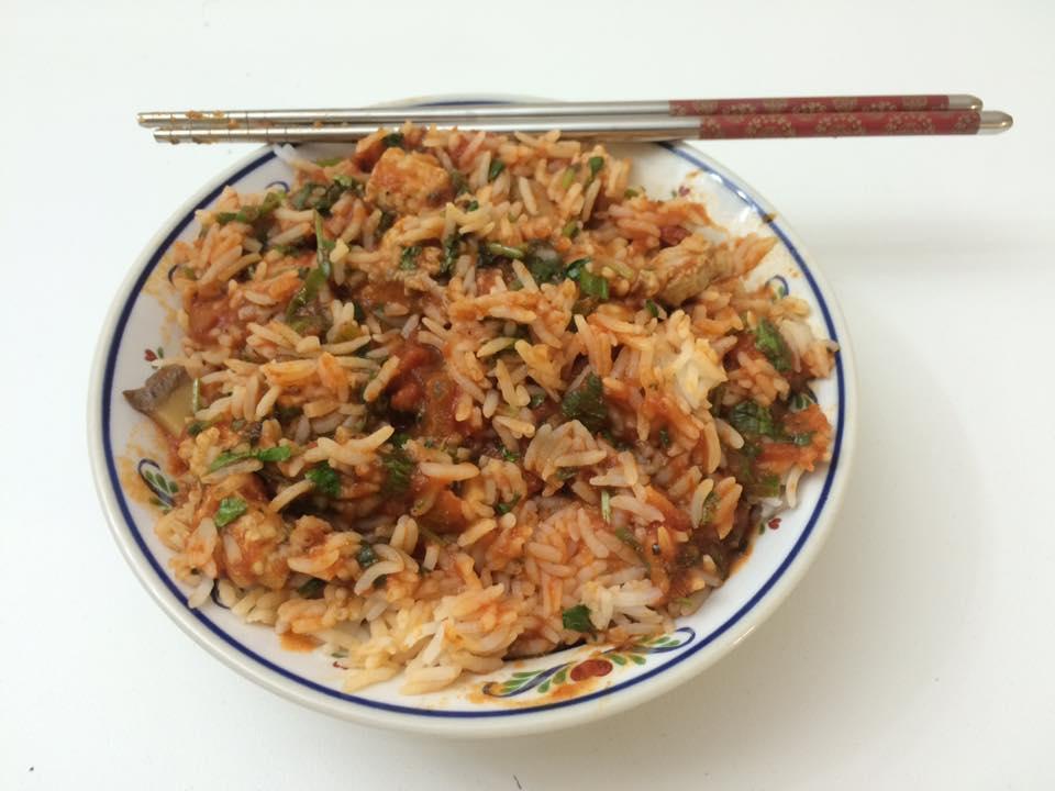 Rice spaghetti sauce