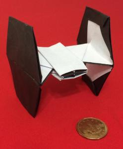 accurate origami tie fighter