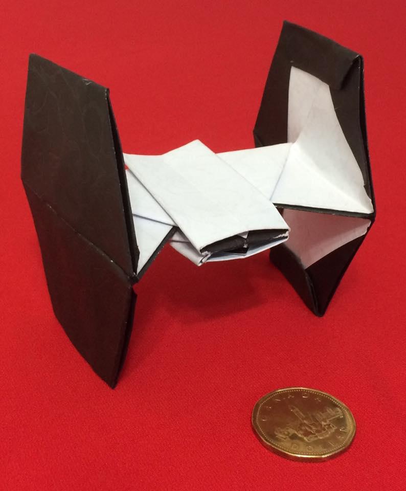 Accurate Origami Tie Fighter Digital Citizen