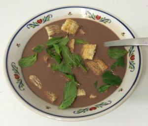 shredded wheat chocolate milk fresh mint