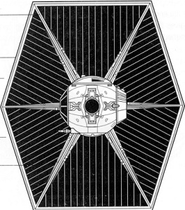 Tie fighter wing panel