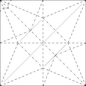 flapping crane crease pattern