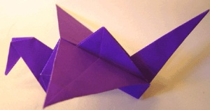 flapping crane origami
