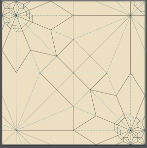 songbird origami crease pattern