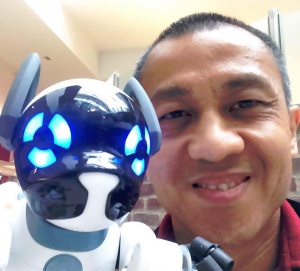 Me & K8, my first AI robot