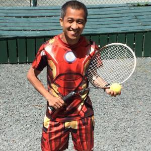 Me in my Iron-man tennis outfit