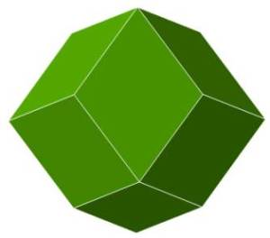 rhombic-dodecahedron-green